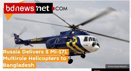 Russia Delivers 5 Mi-171 Multirole Helicopters to Bangladesh