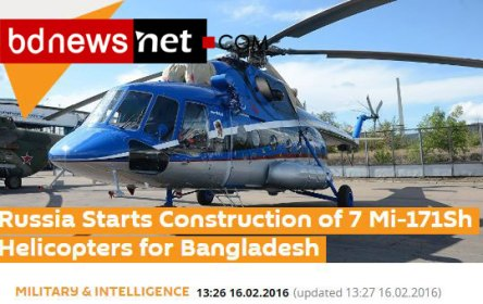 Russia Starts Construction of 7 Mi-171Sh Helicopters for Bangladesh