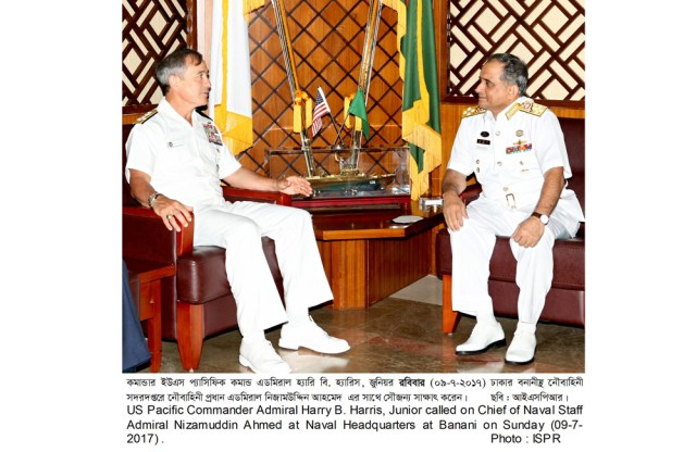 Admiral Harry B. Harris ,Commander, U.S. Pacific Command In Bangladesh