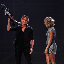 LOS ANGELES, CA - FEBRUARY 12: Recording artists Keith Urban (L) and Carrie Underwood perform onstage during The 59th GRAMMY Awards at STAPLES Center on February 12, 2017 in Los Angeles, California.   Kevork Djansezian/Getty Images/AFP