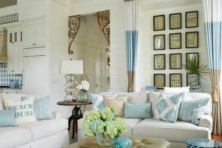 beach house decor blue white