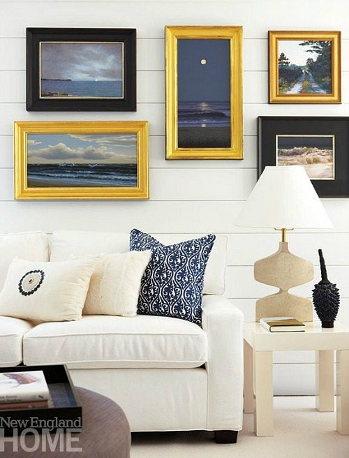 Wall Decorating Ideas Above Sofa : Inspiring beach wall decor ideas for the space above