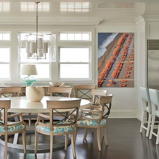 Elegant beach home that lets the art shine in every room beach bliss living decorating and for Elegant coastal living rooms