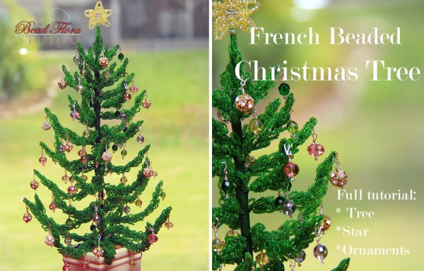 French beaded christmas tree