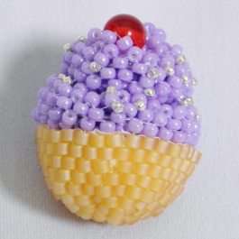 Beaded Cupcake Pattern, Katie Dean, Beadflowers