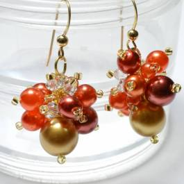 Pearl Cluster Earrings Beading Pattern, Katie Dean, Beadflowers