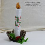 Beaded Advent Candle Pattern, Beaded Advent Candle kit, Katie Dean, Beadflowers