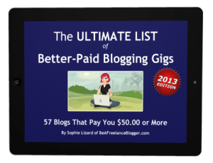 The Ultimate List of Better-Paid Blogging Gigs (iPad)