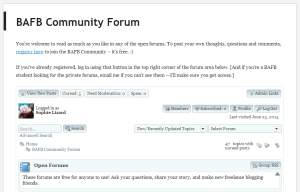 BAFB Community forum screenshot