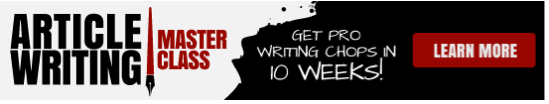 Check out the Article Writing Masterclass info