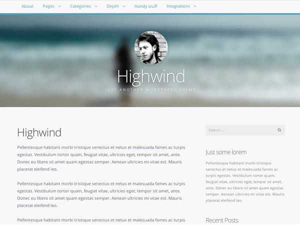 highwind wordpress theme