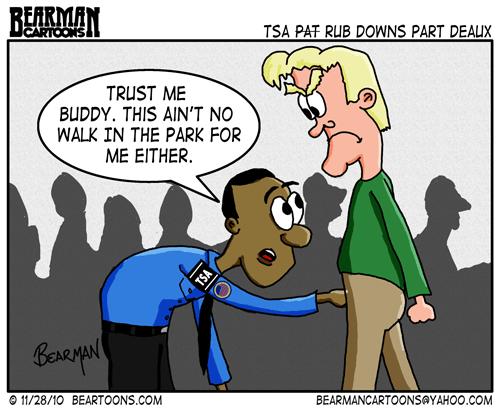 Editorial Cartoon: TSA Pat Down