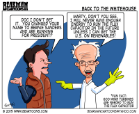 Bernie Sanders goes Back to the Future