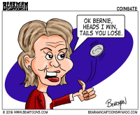 Hillary Clinton Coingate Editorial Cartoon