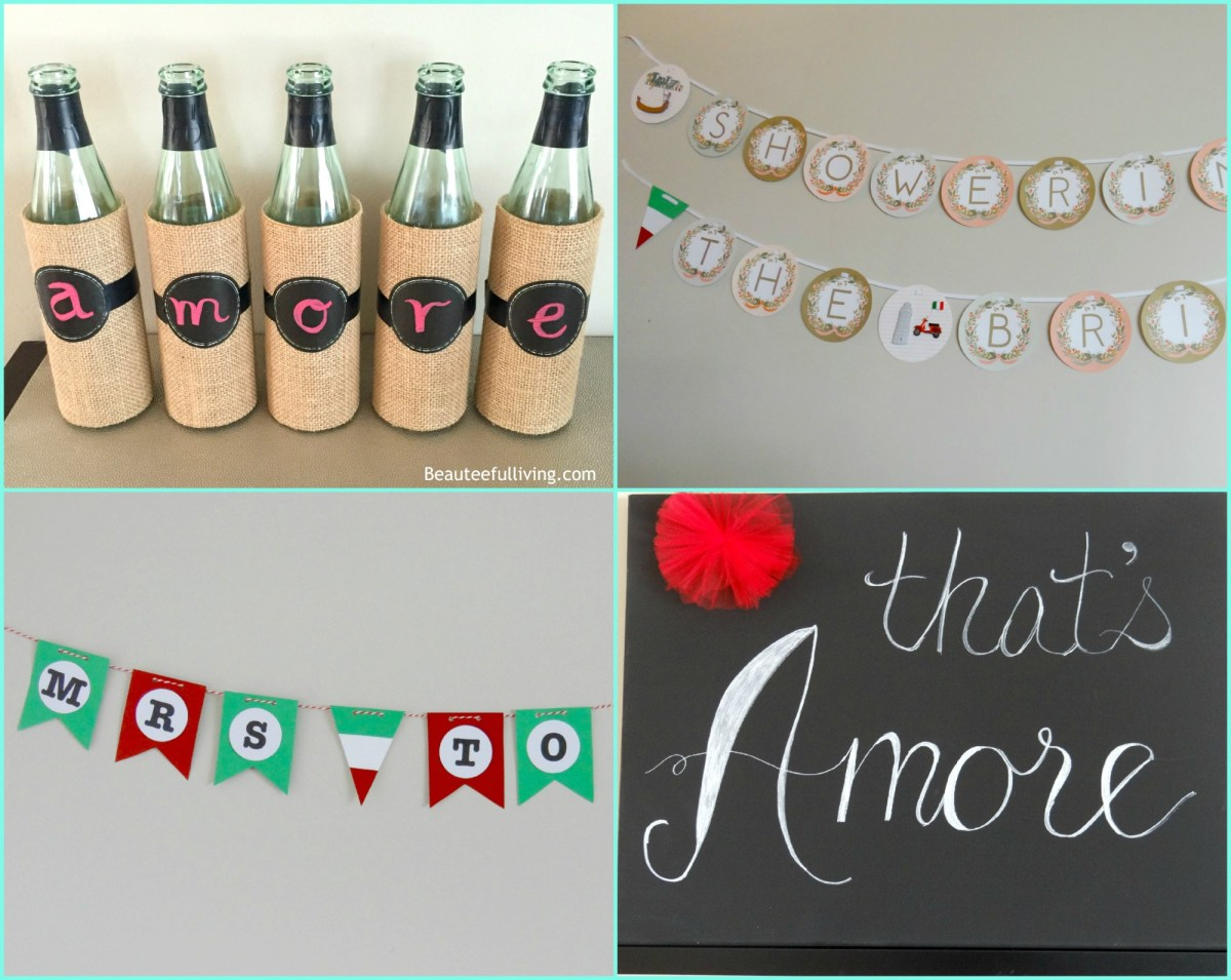 Italy-themed Bridal Shower Projects