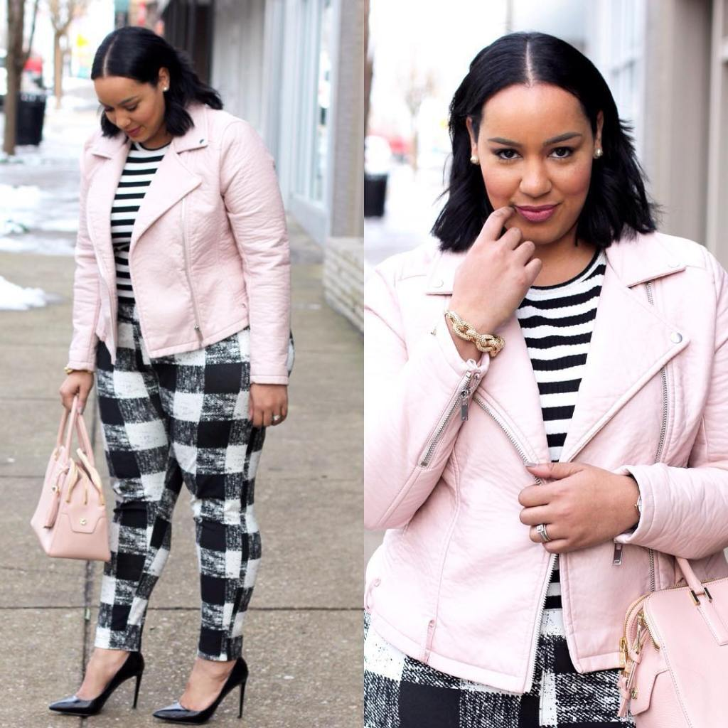 Another look at yesterdays stripe on plaid post! beauticurve plusstylehellip