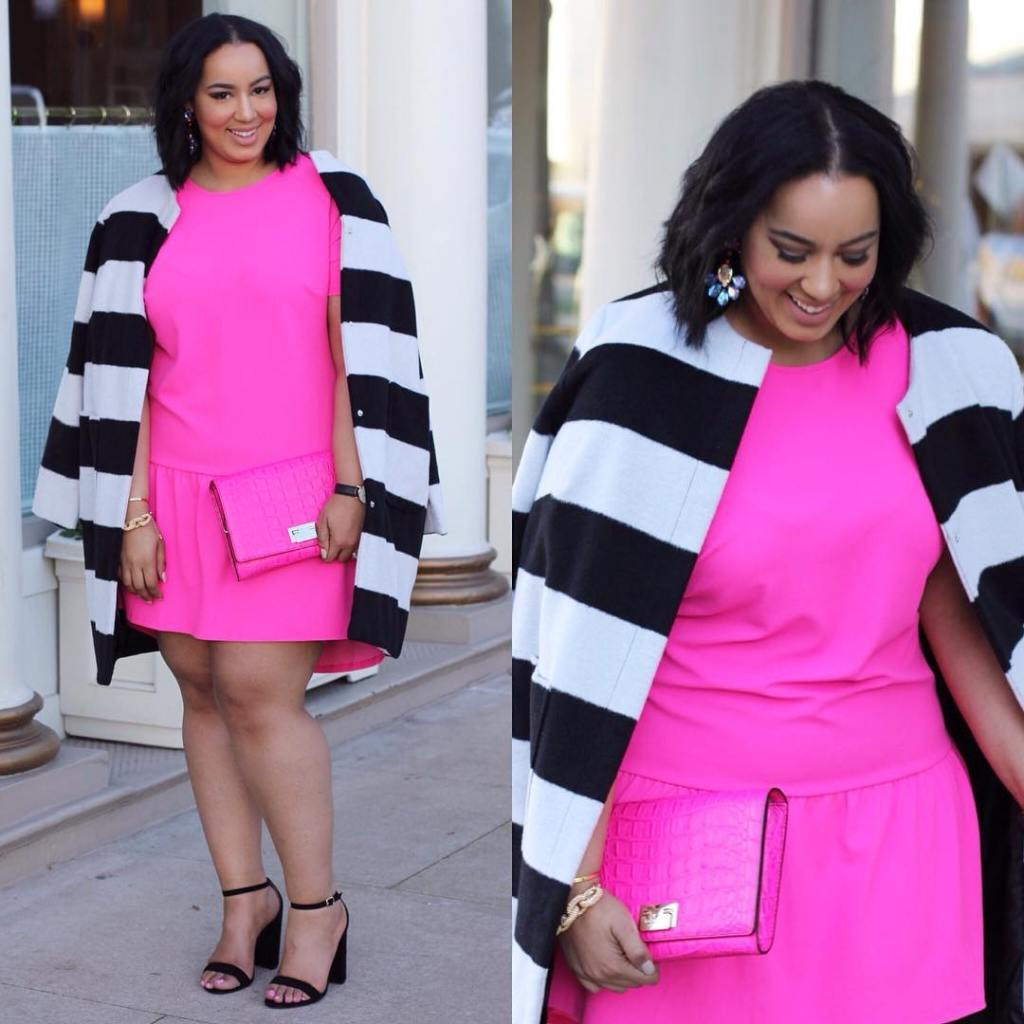 Something amazing happens when you wear a hot pink dresshellip