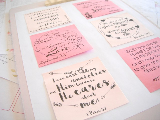 Free Sticky Note Printable - God Loves Me Quotes!