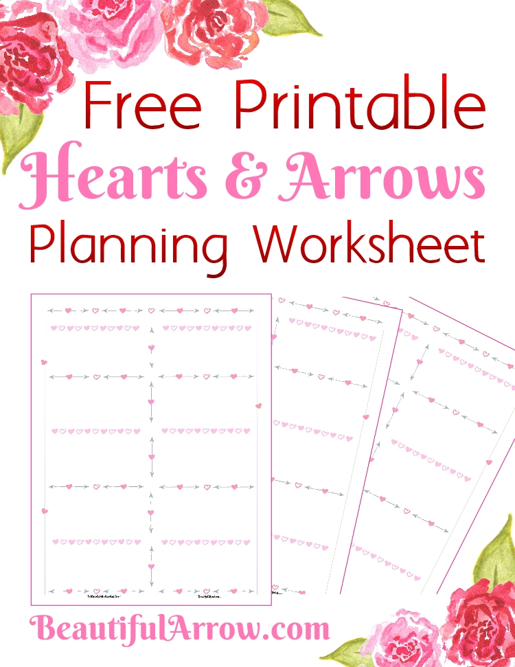 Free Hearts and Arrows Planning Worksheet Printable