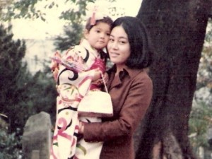 Me and my mom circa 1970, Japan