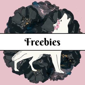 Freebies button wolf