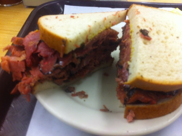 Pastrami sandwich from Katz