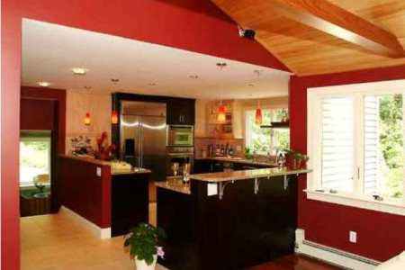kitchen cabinet red color decorating ideas