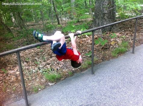 22 little boy gymnastics zoo