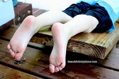 11 3 year old feet