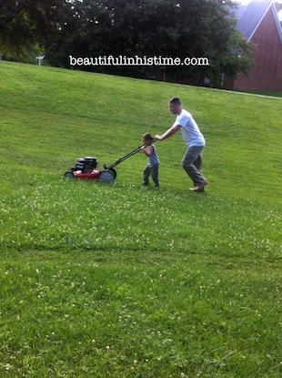 23 cutting grass