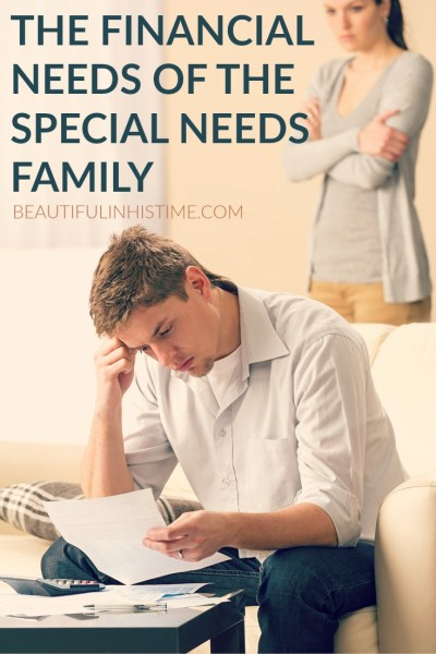 financial needs of special needs family PIN
