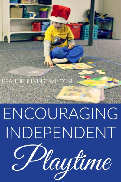 encouraging independent play