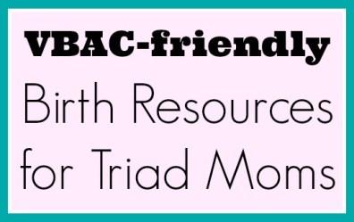 VBAC friendly birth resources