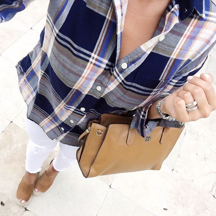 plaid top for fall