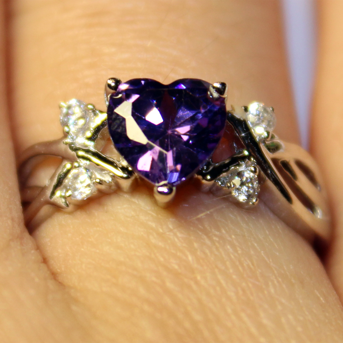 Cheery Amethyst Heart Shaped Promise Ring Blog Promise Rings What Is A Promise Ring What Does It Mean Wsletter Kaijewelsmeaning Promise Ring Kj 01m wedding rings What Is A Promise Ring