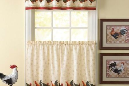 decoration unique country kitchen curtain ideas with chicken pattern kitchen curtains and paint white window frame also best pale yellow paint colors 600x600