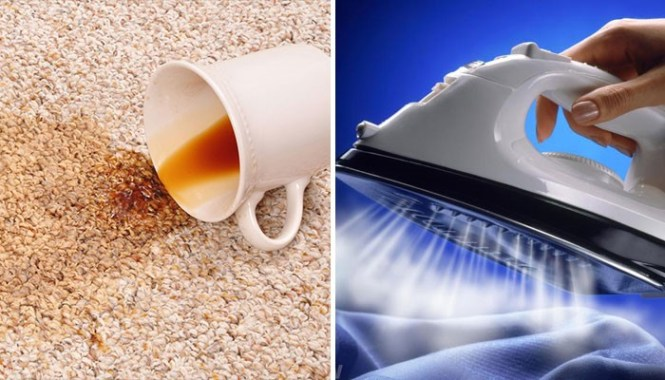 Cleaning hacks Carpet stains can be removed easily with an iron