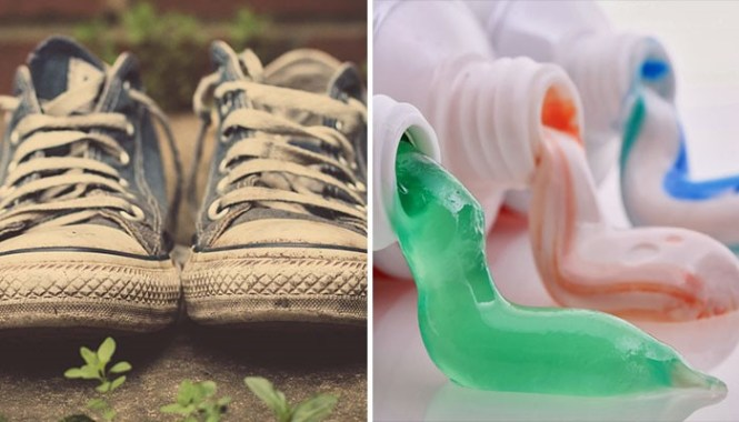 Cleaning hacks Toothpaste can make your old sneakers look like a new pair