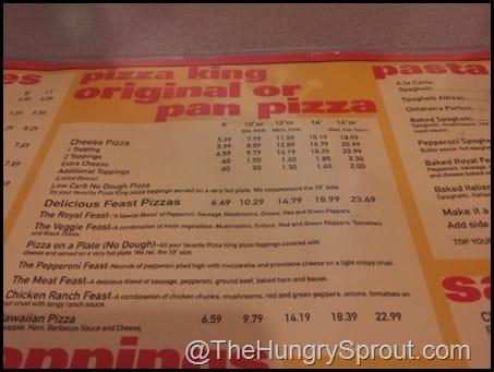 Pizza King Farmland menu