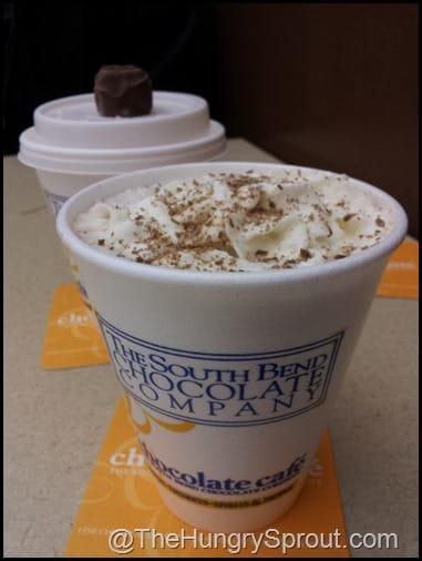 South Bend Chocolate Company hot chocolate
