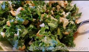 Houston's Kale Salad with Peanut Dressing