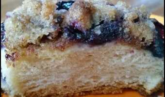Breakfast Blueberry Biscuit Skillet Cake