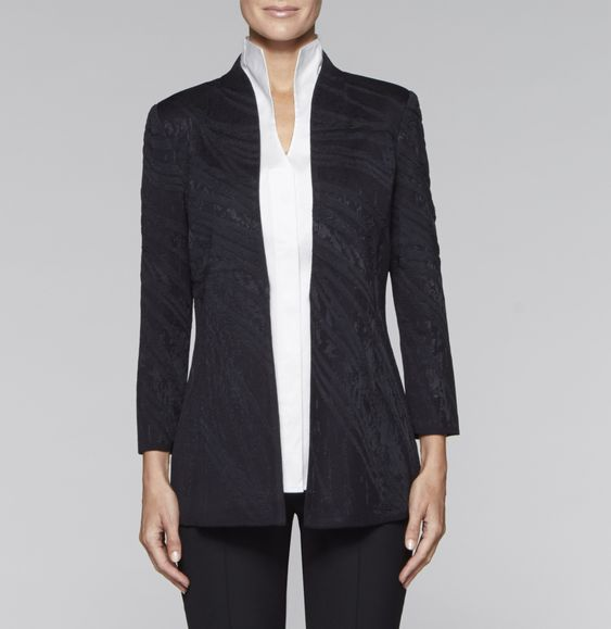 Lustrous Jacquard Jacket