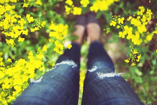 woman-legs-flowers-summer