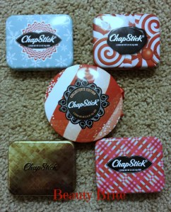 ChapStick Holiday and Ornament Tins
