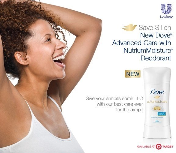 Dove Deodorant caring for the sensitivity of your armpit