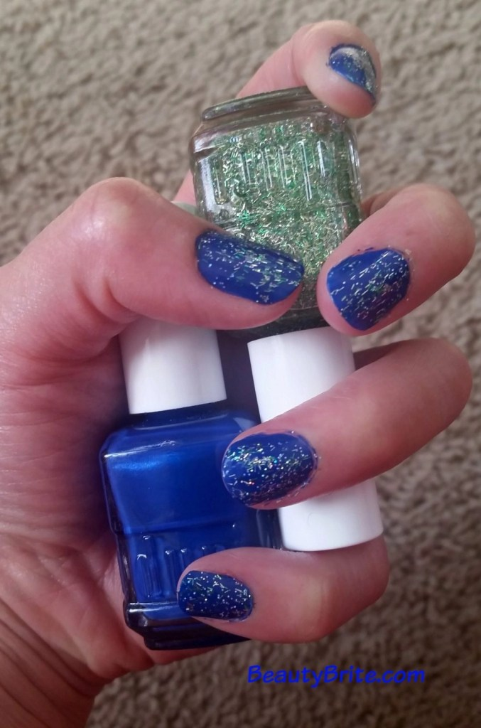 Beauty Brite blue and glitter