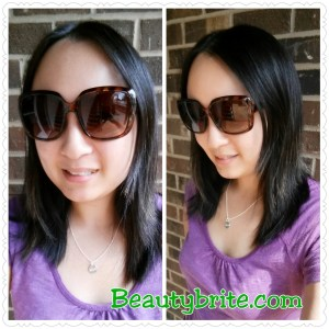 Wearing Halo Sunglasses beautybrite