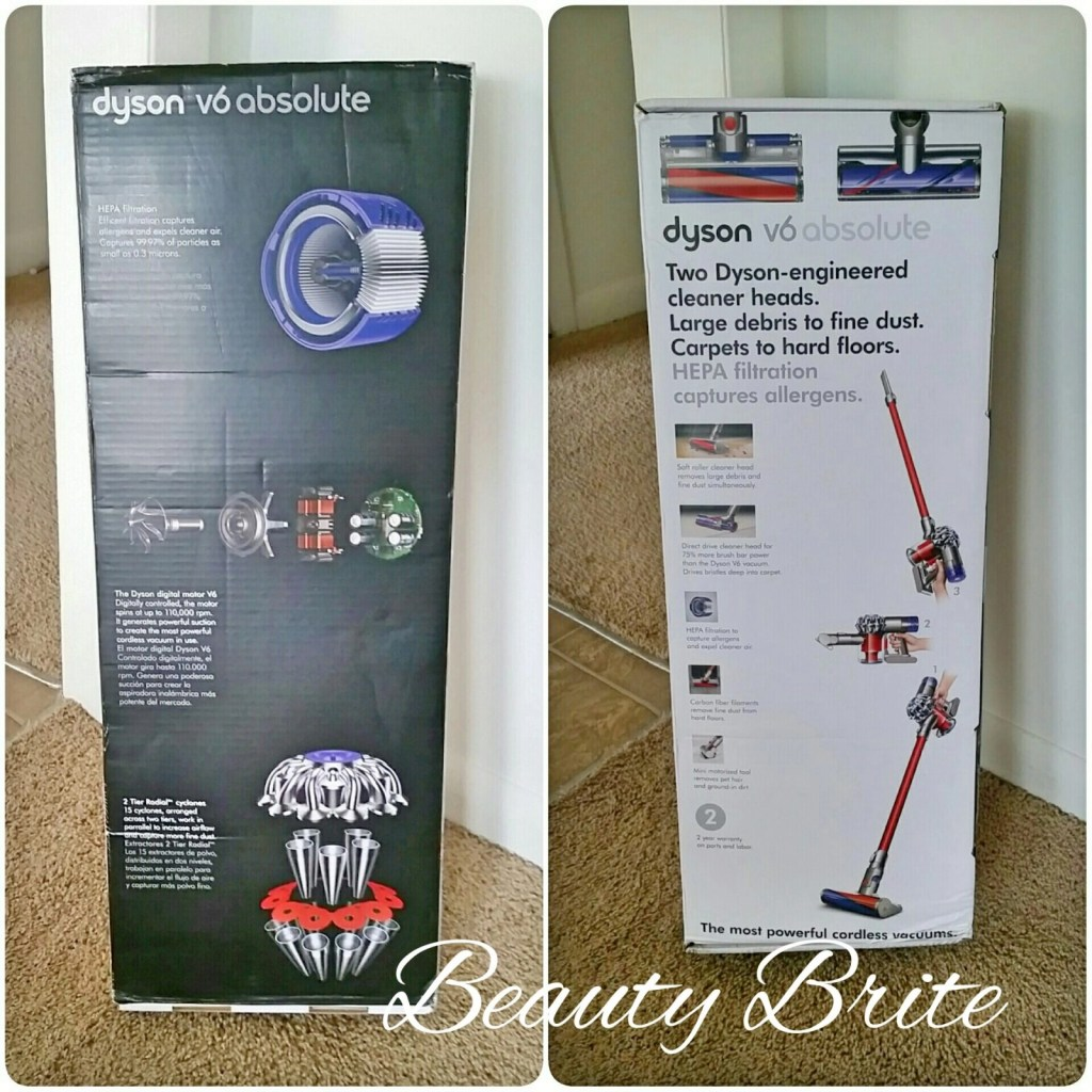 Dyson V6 Absolute side by side