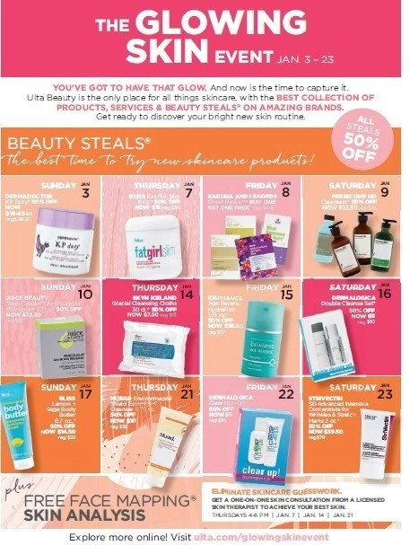 Save at ULTA Beauty on January 17th with The Glowing Skin Event